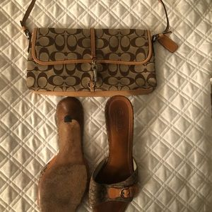 Coach purse shoes set